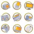 ikony urządzeń Hi-Tech — Wektor stockowy