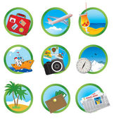 Vacation icons — Stock Vector