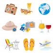 Tourism and vacation icons — Stock Vector #5301521