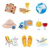 Tourism and vacation icons — Cтоковый вектор
