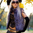 Beautiful woman portrait in natural autumn - Lizenzfreies Foto