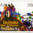 Beatles in cartoon gele onderzeeër — Stockfoto #4062097