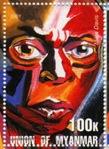 Stamp show Miles Davis — Stock Photo