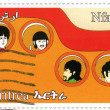 Постер, плакат: Beatles in cartoon Yellow Submarine