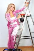 Woman starting renovations — Stock Photo
