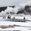 Stock Photo: Hot geysers in Yellowstone NP, USA