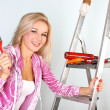 Woman starting renovations — Stock Photo