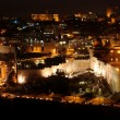 Classic Jerusalem - Night in old city, Temple Mount with Al-Aqsa — Stock Photo