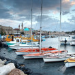 Classic Israel - old town and port in Acre also Akko in Western - Stock Photo