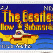 Beatles in Cartoon gelben u-Boot — Stockfoto
