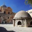 Classic Israel - Dome on the Church of the Holy Sepulchre in Jer - Stock Photo