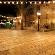 Classic Israel - Old street of Jaffa, Tel Aviv in the night — Stock Photo