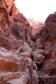 Siq canyon in Petra City of Jordan, Middle East — Stock Photo
