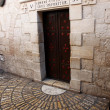 Five Station in Via Dolorosa in Jerusalem, is the holy path Jesu - Foto de Stock