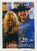 Pamela Anderson and Kid Rock — Foto de Stock