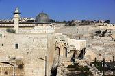 オリーブの台紙とアル アクサ モスク エルサレムでは、isr を表示します。 — ストック写真