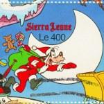 Disneys Goofy like a Santa — Stock Photo