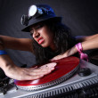 Cool DJ in action — Stock fotografie