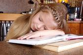 Dziewczyna snu na książki — Zdjęcie stockowe