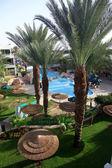 Detail of Swimming pool in Spa resort — Stock Photo