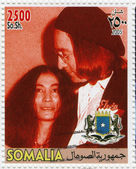 John Lennon and Yoko Ono — Stock Photo