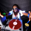 Cool afro american DJ in action — Stock Photo #4510682