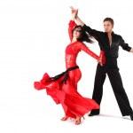 dansçılar üzerinde beyaz izole eylem — Stok fotoğraf #4526901