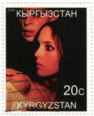 Isabelle Ajani and Klaus Kinski in Nosferatu the Vampyre film poster — Stock Photo