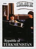 John Lennon and George Harrison — Stock Photo
