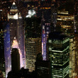 notte a new york, manhattan — Foto Stock