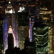 nachts in manhattan new york — Stockfoto