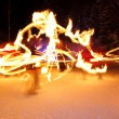 Incredible Fire Show at night — Photo
