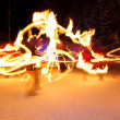ストック写真: Incredible Fire Show at night