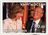 American actors Allison Janney (L) and John Spencer — 图库照片