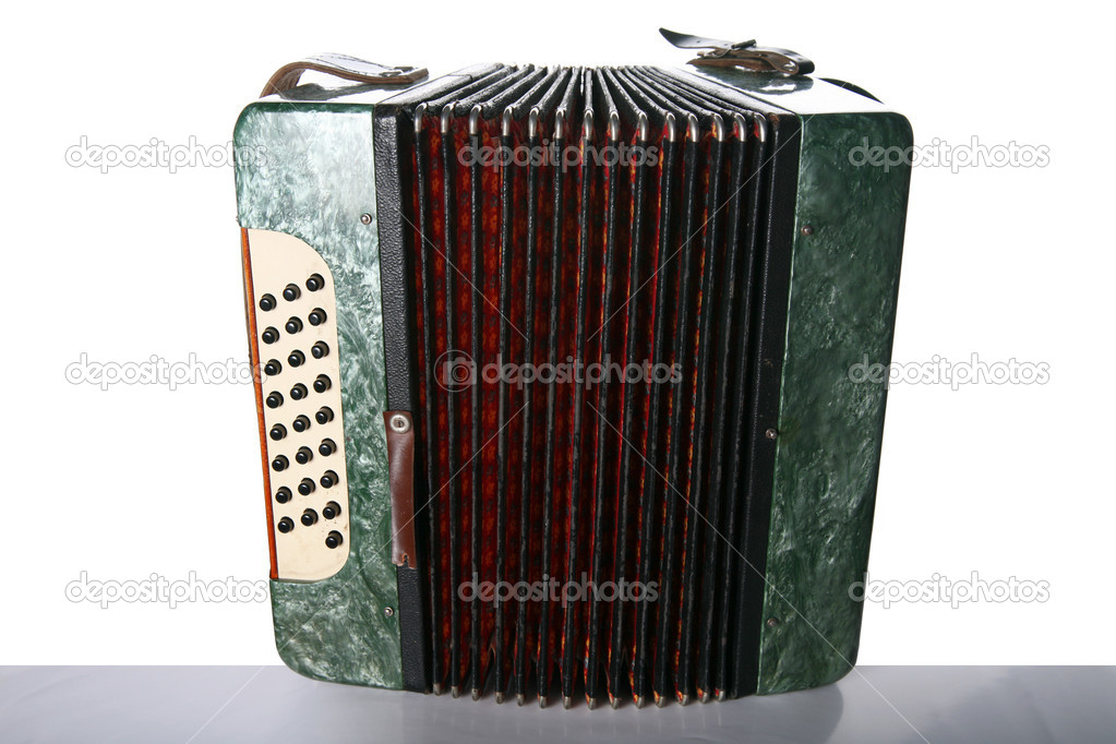 Old classic bayan (accordion) — Stock Photo #4679032