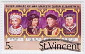 UK Kings - Edward V (L) , Richard III , Henry VII , Henry VIII — Stock Photo