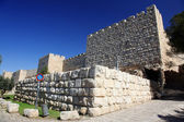 Jerusalem old city wall near Zion Gate — Stock Photo