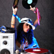 Stock fotografie: Cool DJ in action