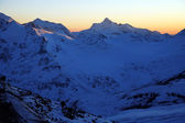Sundown in mountains Elbrus area — Stock Photo
