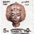 Queen Tiye was an Great Royal Wife of the Egyptian pharaoh Amenhotep III - Stok fotoraf