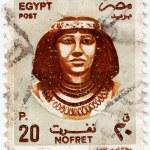 Queen Nefertiti was an Great Royal Wife of the Egyptian pharaoh Akhenaten — Stock Photo