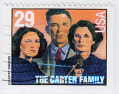 The Carter Family is an american country singers — Stock Photo
