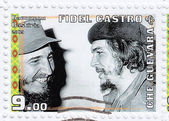 Fidel Castro (L) and Che Guevara — Stock Photo