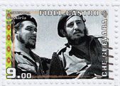 Fidel Castro (R) and Che Guevara — Stockfoto