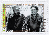 Fidel Castro (L) and Che Guevara — Stockfoto