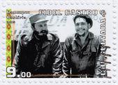 Fidel Castro (L) and Che Guevara — Stock Photo
