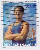 Hertog kahanamoku was een Hawaiiaanse zwemmer — Stockfoto