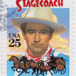 John Wayne in Stagecoach is a 1939 American Western — Stock Photo