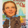 Judy Garland in poster of The Wizard of Oz - Stock Photo