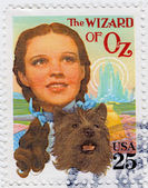 Judy Garland in poster of The Wizard of Oz — Stock Photo